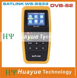Wholesale Original Satlink WS DVB S2 FTA C KU Band WS6933 Digital Satellite Finder Meter with Inch LCD Display free ship post