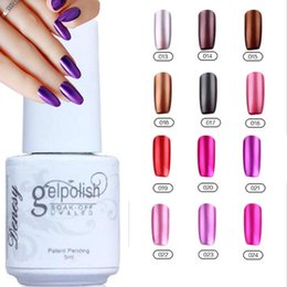 Wholesale 12Pcs Gelish Nail Polish UV Gel Metallic Mirror Effect Soak Off Nail Lacquer Brand New Top Quality Long lasting Colors Colors ml