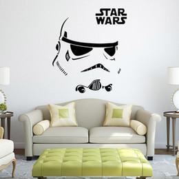Wholesale 50pcs les plus récents Star Wars Stromtrooper Wall Stickers avec Star Wars Character Letters décoration murale fans décoration décoration nouvelle