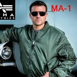 Wholesale Fall Genuine Alpha Industries Alpha MA1 MA11 Flight Jacket Ultra Light Waterproof Fabric Gray Green Black