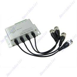 Balun pasivo de vídeo de 4 canales en venta-Receptor pasivo de 4 canales transmisor Video Balun para CCTV vía pares torcidos X 204-F