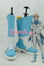 Wholesale Binan Koukou Chikyuu Bouei Bu Love Battle Lover Cerulean Cosplay costume Boots Boot Shoes Shoe