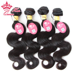 "Queen Hair Products Peruvian Virgin Body Wave 4pcs lot 100g pcs (12""-28"") Hair Weaves, Human Hair weave extention"