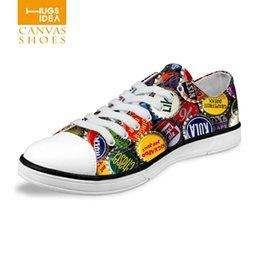 Wholesale funny design unisex polka dot canvas flat shoeschaussure femme cute round dots print toe low top van sapatos de mulher for drive