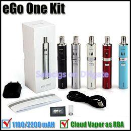 Wholesale Newest Ego One Mini kit mah mah Ego twist batteries ml Adjustable Airflow eGo one atomizer vs eGo one mega Evic VT kit