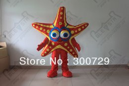 hot sale starfish mascot costumes red star fish onesies for adults