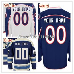 Factory Outlet, 2014 New Columbus Blue Jackets Jerseys Customize Men's Home Road Third Third Navy Blue White Jerseys Personalize Name Number