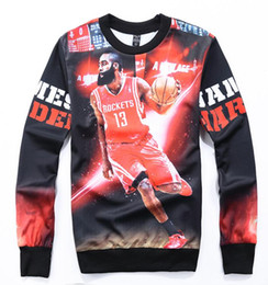 Harden 13 3D casual men's long-sleeved sweater autumn and winter sportswear