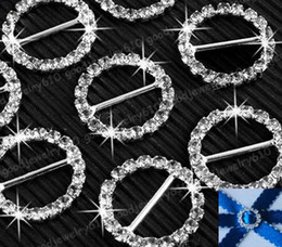 20pcs 15mm Round Sparkle Rhinestone Crystal Buckle slider