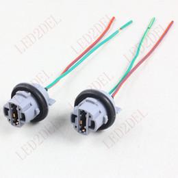 Wholesale 7440 T20 Car Xenon LED Light Bulb Brake Turn Signal Light Socket Wiring Harness Plug Connector adapter