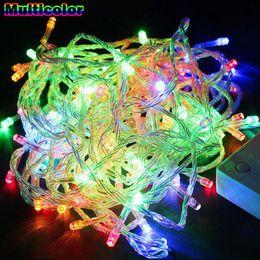 El mejor precio llevó las luces de navidad en Línea-La mejor luz de hadas del precio 100M LED de la lámpara de la lámpara de la boda de Navidad Decoración del partido de Navidad al aire libre DHL