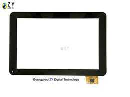 "9"" Black Tablet Pc Capacitive Touch Screen Digitizer Replacement A0207-2-FO-A Glass Touch Panel"