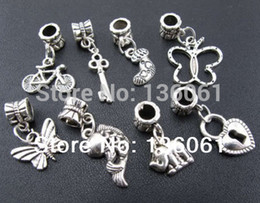 200pcs Vintage Silvers Mixed Bicycles Elephants Fish key Butterfly Charms Pendants For Jewelry Making Findings Bracelets Accessories P1760