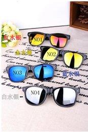 Wholesale 2014 New arrive fashion so madness black mens womens retro vintage way farer mirrored sunglasses uv400