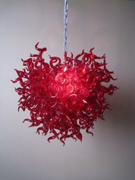 Free Air Shipping Color Size Customized Home New Red Art Lighting Cheap Murano Glass Crystals Home Chandeliers
