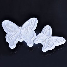 2PCS Set Fondant Butterfly Cake Cookies Cutter DIY Craft Baking cake Decorating Mould Tools FYSS0241W