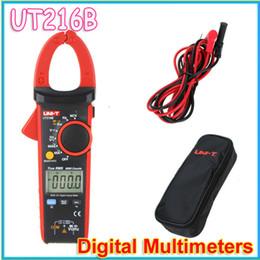 Wholesale UNI T UT216B LCD Display A True RMS Digital Clamp Meters Auto Range w NCV V F C amp Frequency Tester Multimetro