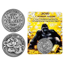Wholesale Monkey crafts antique silver custom metal stamping coins numismatics coins metal crafts party souvenir