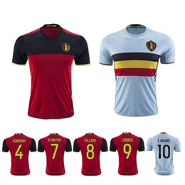 Wholesale DHL Top Thailand Quality Euro Cup Shirt Belgium Home Red Away Baby Sky Blue Hazard