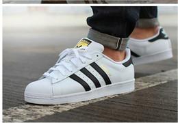 Wholesale adidas Originals Superstar S Man s Women s shoes sneakers man shoes women shoes Classic couples skate shoes white Black