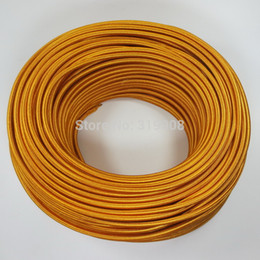 Wholesale-vintage pendant light cord 3 core 0.75mm fabric cable gold color lamp cord power cord
