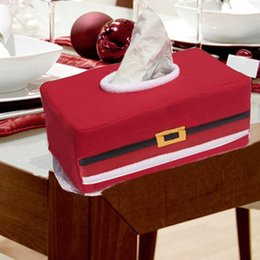 Red Christmas Decorations Ornaments Christmas Handkerchief Case Cover Box