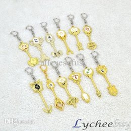 Wholesale-Hot Anime Fairy Tail Lucy Keychain 12 Palace Constellation Weapons Pendant Gift Keychains ring