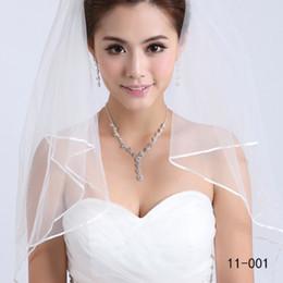 2019 New Best Selling 1T White Wedding Bridal Satin Ribbon Edge Accessor Satin Ribbon Cheap Accessories Women's Veils Free Shipping