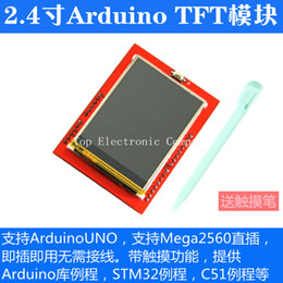 Wholesale LCD module TFT inch TFT LCD screen for Arduino UNO R3 Board and support mega with gif Touch pen