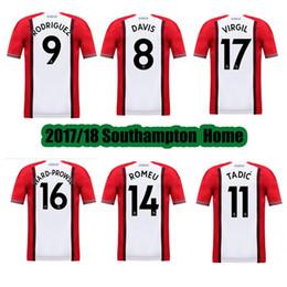 AAA Thai Quality 2017 2018 Southampton home Soccer Jersey Southampton soccer shirt RODRIGUEZ TADIC RAMEU #8 DAVIS Football uniforms sales