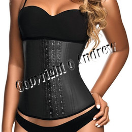 Wholesale 2015 Sexy Underbust Waist Cincher Rubber corsets Body Shape Wear Latex Look Bustier S XXL