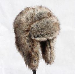 Descuento sombreros trampero Al por mayor-OC0116 wWarm las mujeres sombrero de los hombres cómodos bombardero de invierno con sombrero de cazador de oreja de estilo ruso sombreros casquillo del bombardero