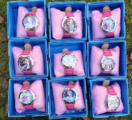 Wholesale 10 Hot Sale FROZEN Children Watch Boxed Kids Birthday Gift Frozen Watch Anna Elsa Frozen Wristwatches