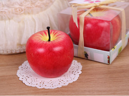 Wholesale Sample Order Christmas Red Apple Shape Candle Wax Fruit Scented Candle Home Decoration Greet Gift S2555