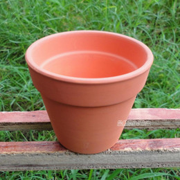 Ceramic POTS Red color pottery pot cup on clay flowerpots modelling 8.5 cm in diameter