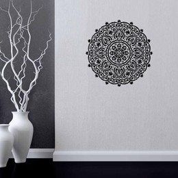 Flower Wall Decal Vinyl Sticker Art Decor Mandala Menhdi Om Hindu Buddha Wall Sticker DIY Home Decor57*56cm
