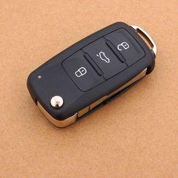 NEW 3 Button For VW VOLKSWAGEN Tiguan Golf Sagitar Polo MK6 Flip Fob Remote Folding Key Shell Uncut Blade