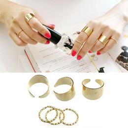 6Pcs Set Ring Set Punk Rock Stack Plain Midi Mid Knuckle Ring Band Finger Rings Set Jewelry Wholesale 12 Set