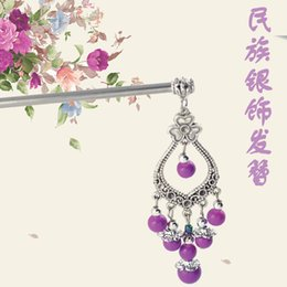 A variety of color national silver hairpin hairpin hairpin hair nation national gem clover flowers 180311