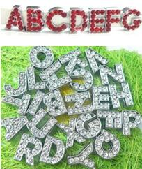 Wholesale Buyer Order mm full rhinestones slide letters and mm red rhinestones slide letter