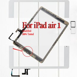 Wholesale Brand new For iPad Air For IPAD Touch screen panel Digitizer by DHL or EMS