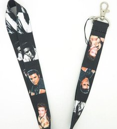 Free Shipping New Lots 30 pcs Elvis Aron Presley fashion Mobile Phone LANYARD Neck Strap Charms