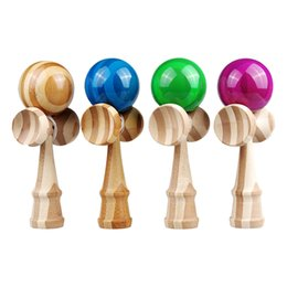 Wholesale Eco friendly kids wooden toys Standard Japanese style Bamboo kendama ball sword ball