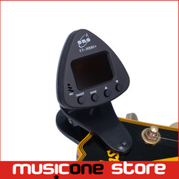 Syntoniseur de guitare automatique en Ligne-ENO ET-3000 + Black Numérique LCD Guitare Basse Violon Clip-on Automatic Chromatic Tuner MU0104