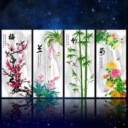 Wholesale Wintersweet Orchid Bamboo Daisy Embroidery Cross Stitch Kits Diamond Painting Living Room DIY Painting Home Decoration Free Ship