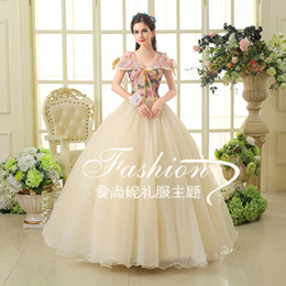 100%real beading shawl collar bowknot floral gown Medieval dress Renaissance gown princess dress Victorian venice Marie Antoinett Belle Ball
