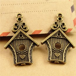 Wholesale New Arrival Beautiful House Charms Fairy Tale World Vintage Charm Diy Craft Pendants A3210