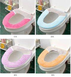 Wholesale Bathroom Necessities Soft Flocking Thermal Sitting Toilet Seat Cushion Mat Washasble Closestool Seat Mat Pad hot sale