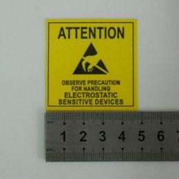 Etiquette électronique à vendre-200Pcs / Lot 4.8 * 4.8cm Self Seal Adhésif Avertissement Mark Étiquette Attention Post Pour ESD statique Sensitive Device Electronics, PCB