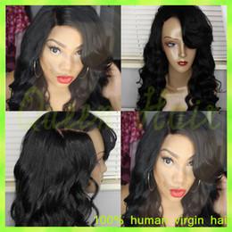 Full Lace Human Hair Wigs For Black Women Glueless Brazilian Lace Front Wig U Part Virgin Hair Wig Wavy Best Human Hair Wigs